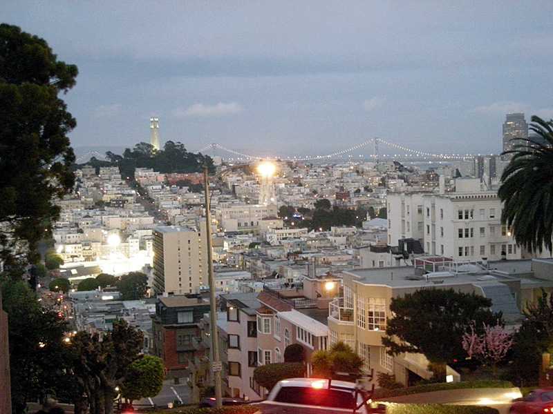Lombard Street to Telegraphe Hill