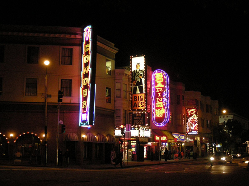 Broadway Street, strip clubs